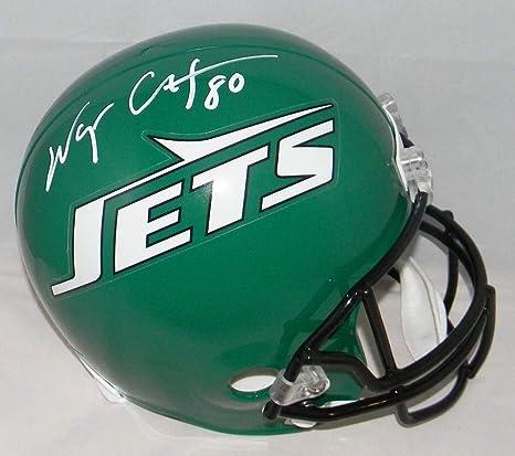 Amazon.com  Wayne Chrebet Autographed Signed New York Jets Full Size  Throwback Helmet JSA  Sports Collectibles 87d2df3bc