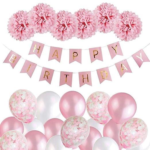 Tabla Cubiertas para 6 mesas Pie feliz cumpleaños Bunting ...