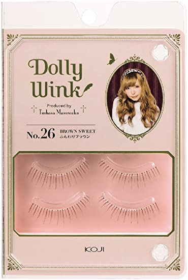 b946c35dff1 Amazon.com : DOLLY WINK Koji False Eyelashes, No. 26 Brown Sweet : Beauty