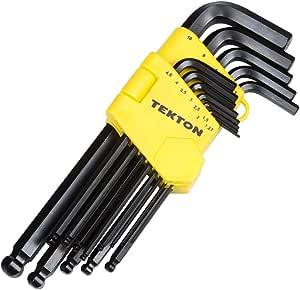 TEKTON 25220 Long Arm Ball Hex Key Wrench Set, Metric, 13-Piece [Older Model]