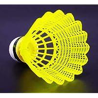 Sajawat Badminton Shuttlecock Pack of 10 Nylon Shuttle Cock (Green)