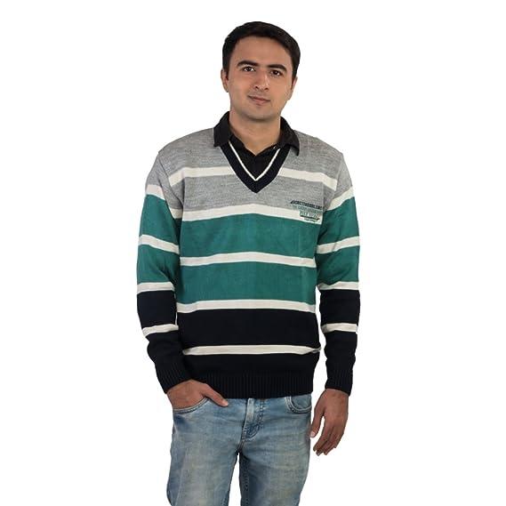 64c59ec5ac1 Modo Vivendi Men s Woolen Sweater (Grey and Green