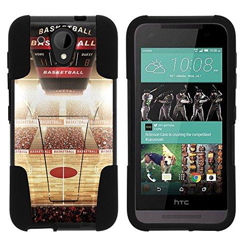 HTC Desire 520 , Hybrid Dual Layer Case with Kickstand STRIKE IMPACT Basketball Series Artwork Collection | Desire 520 by Miniturtle - Baller Stadium (Stadium Artwork Collection)