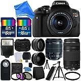 Canon EOS Rebel T6i 24.2MP Digital SLR Camera Bundle w/Canon EF-S 18-55mm f/3.5-5.6 IS STM [Image Stabilizer] Zoom Lens & EF 75-300mm f/4-5.6 III Telephoto Zoom Lens & DigitalAndMore BUNDLE