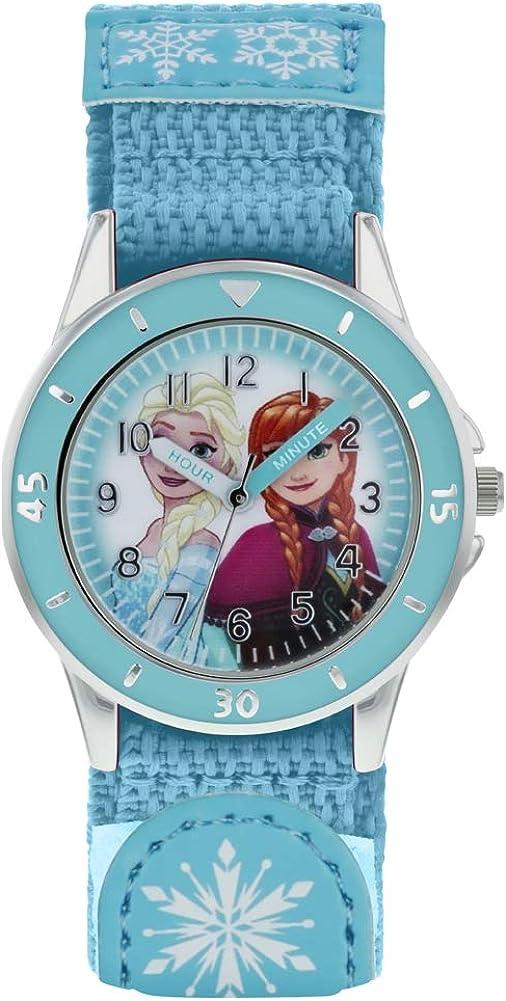Frozen Reloj Analógico para Niñas de Cuarzo con Correa en Tela FZN5014