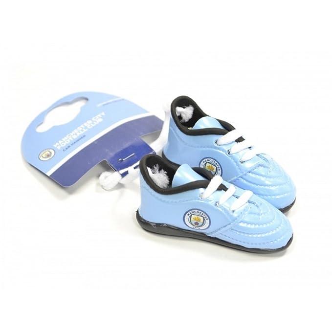 Manchester City FC - Botines para decorar el coche (Tamaño Único/Azul/Blanco