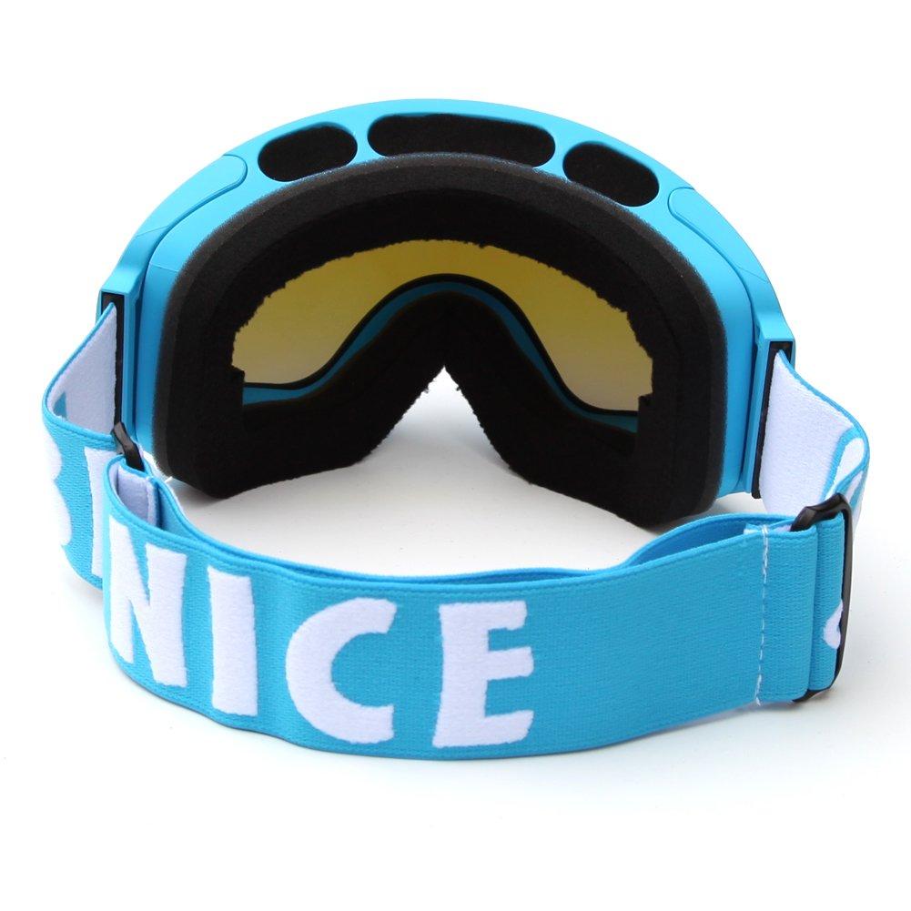 sci e sport invernali protezione UV-Maschera da sci lenti sferiche a specchio Benice?-4200 Series SNOW-Specchio Extra large