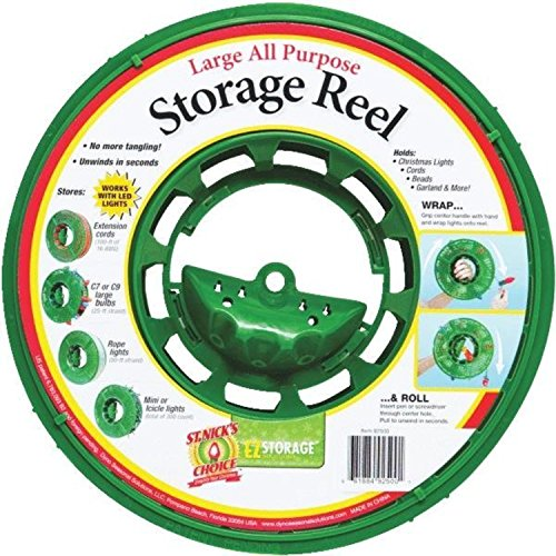 Dyno Large Green Christmas Light Storage Reel with Center...