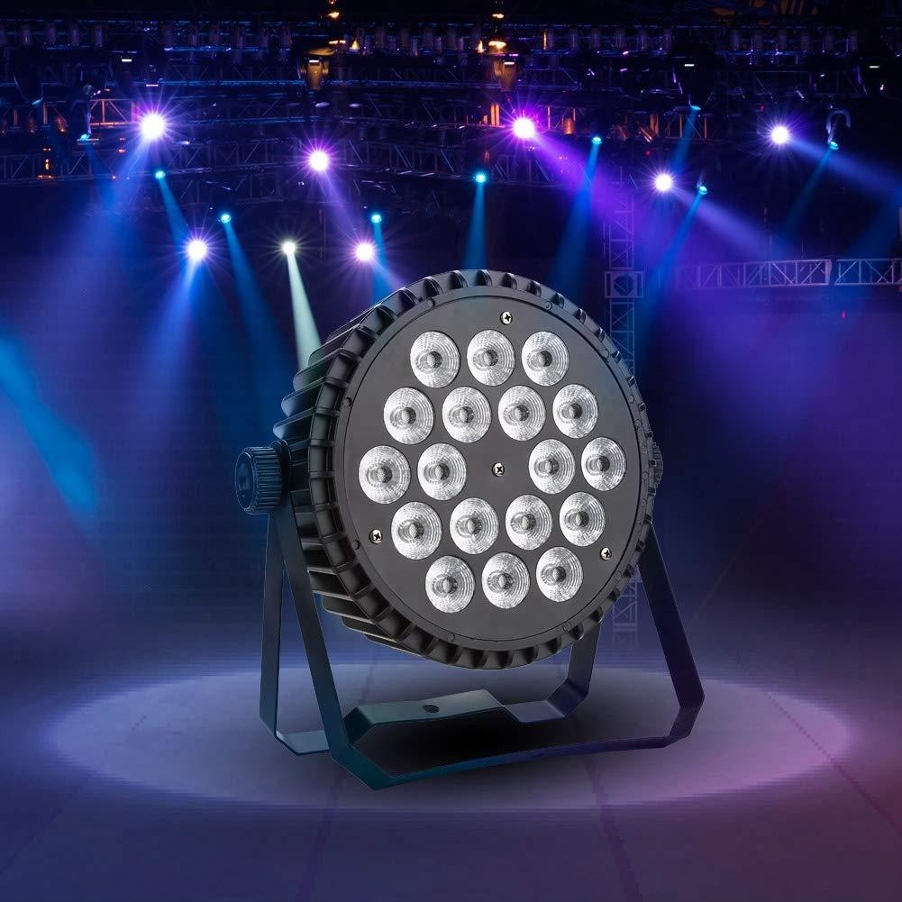200W 18LEDs RGB 4 Modalit/à illuminazione Effetti luce per discoteca Illuminazione DJ Stage Stage Illuminazione LED Spotlight DMX Disco Light per DJ KTV Disco Party LED Fase Lampada Effetto Luce