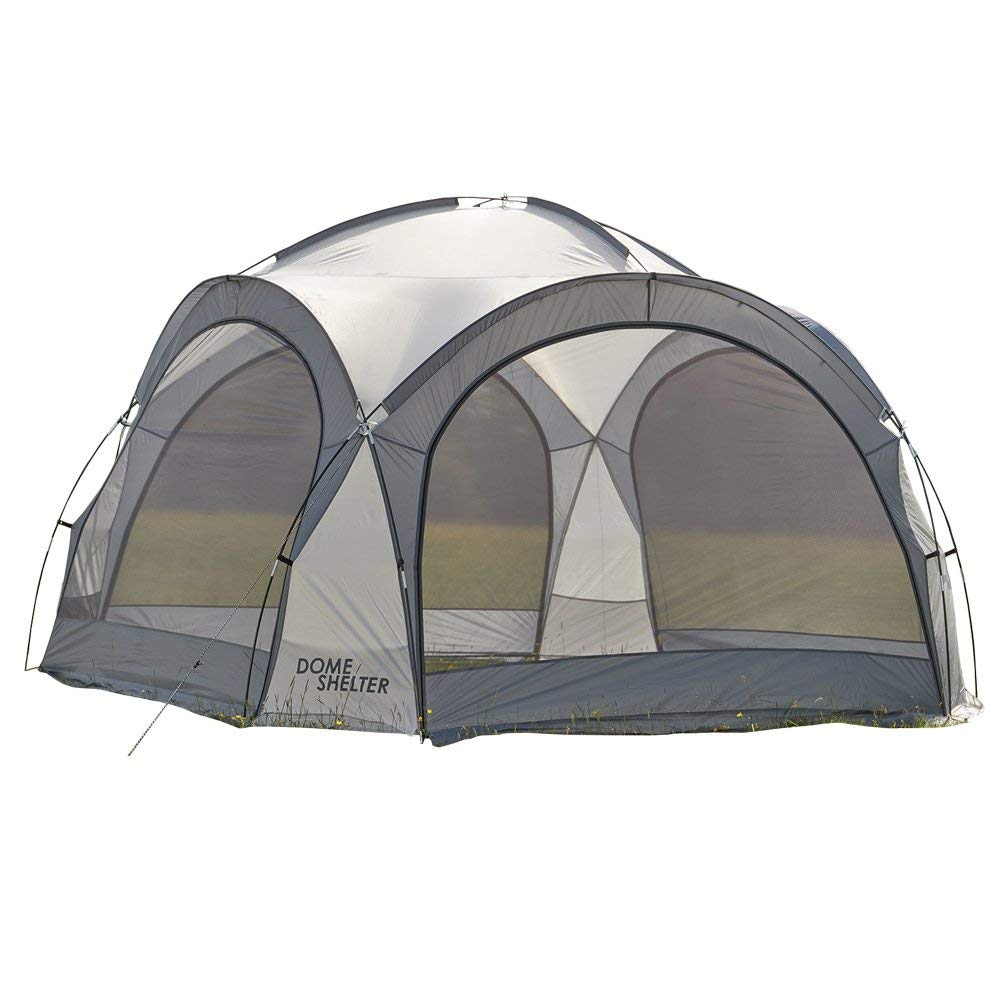 Festivales y Camping Garden Gear Clifford James Toldo para Eventos al Abierto Tienda de Protecci/ón UV con Paneles Laterales para Playa Gris