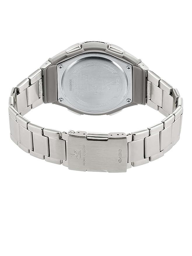 Casio Funkuhren WVQ-M410D-2AER - Reloj para hombres, correa de acero inoxidable color plateado: Amazon.es: Relojes