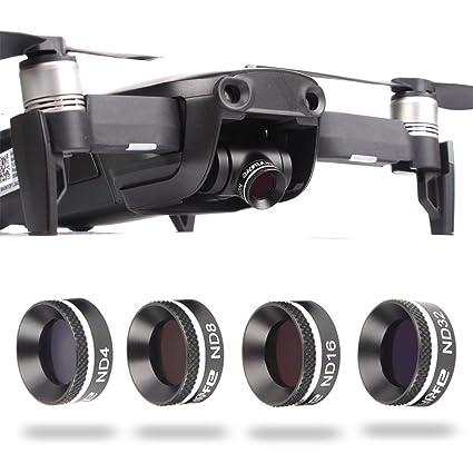 fascinado Drone 4 Unidades Juego de filtros de Densidad Neutra ND4 ...