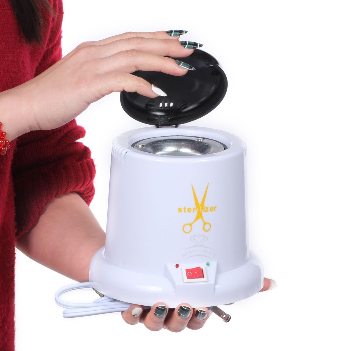 Makartt Nail Sterilizer Disinfect Machine High Temperature Metal Tattoo Art Nipper Tools Clean Pot by Makartt