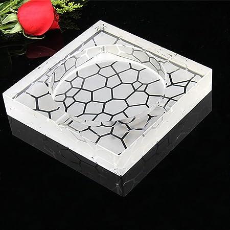 LT&NT Cenicero cristalino fumador de vidrio engrosado colector de ...