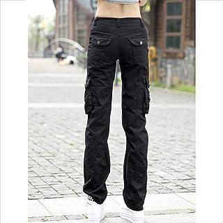 AKDYH Pantaloni da Donna Pantaloni da Lavoro A ManicheLunghe in Cotone daDonna Pantaloni da Lavoro A Tre Tasche Dritto da Donna