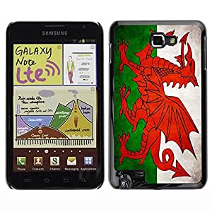 Shell-Star ( National Flag Series-Welsh ) Snap On Hard Protective Case For Galaxy Note / i717 / T879 / N7000 / i9220