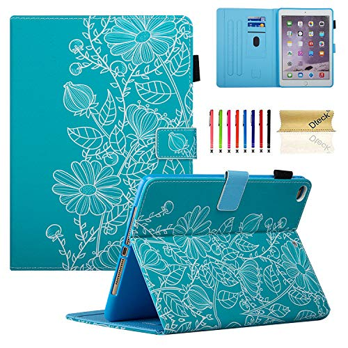 Elegant Flower (Dteck iPad 9.7 2018 2017 / iPad Air 2 / iPad Air Case, Multi-Angle Viewing Folio Stand Smart Shell Protective Cover with Auto Sleep/Wake for Apple iPad 6th/5th Gen,iPad Air 1 2,Elegant Flower)