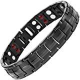Starista Jewelry Pure Titanium Double Row 4 Elements Magnetic Health Bracelet Power Wristband for Men