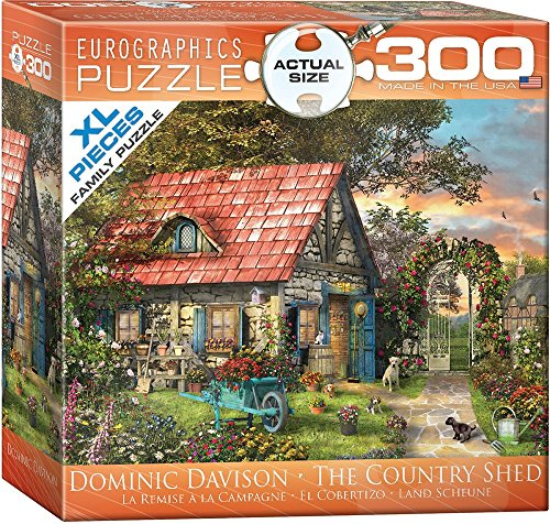 EuroGraphics The Country Shed by Dominic Davison 300-Piece Puzzle (Small Box)
