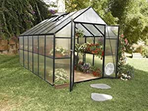 STC Easy Grow Greenhouse, Black Frame, 8 by 12-Feet