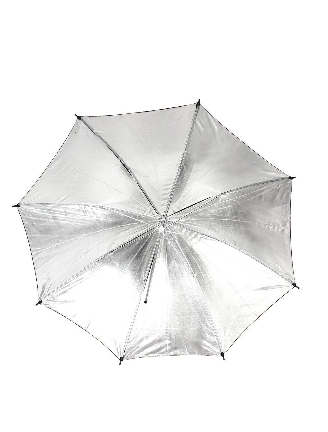 Amazon.com: eDealMax Fotografía del Flash del estudio del Reflector paraguas 83cm Dia Negro Tono de Plata: Electronics