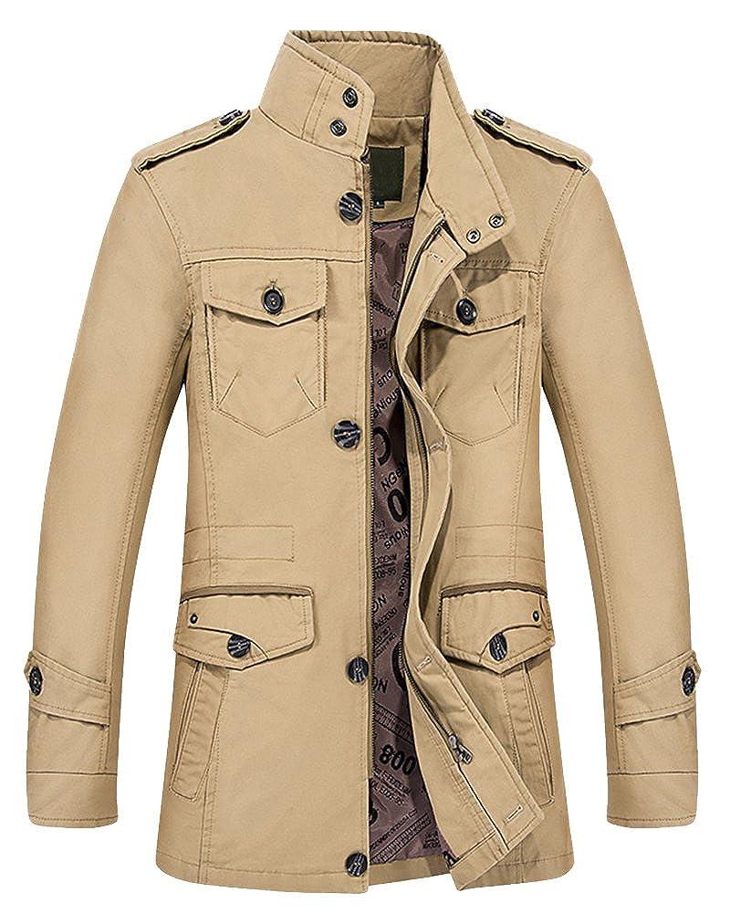 Herren Herbst Winter Militar Manner Jacke,Perfekte Outdoor Funktionsjacke Sportjacke Übergangsjacke Sweatjacke für Sportlieber