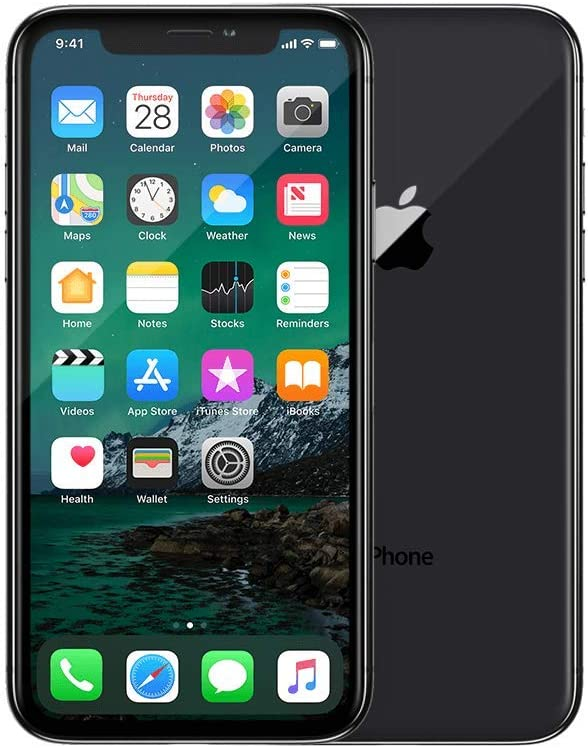 Apple iPhone X, 256GB, Silver - For GSM (Renewed)