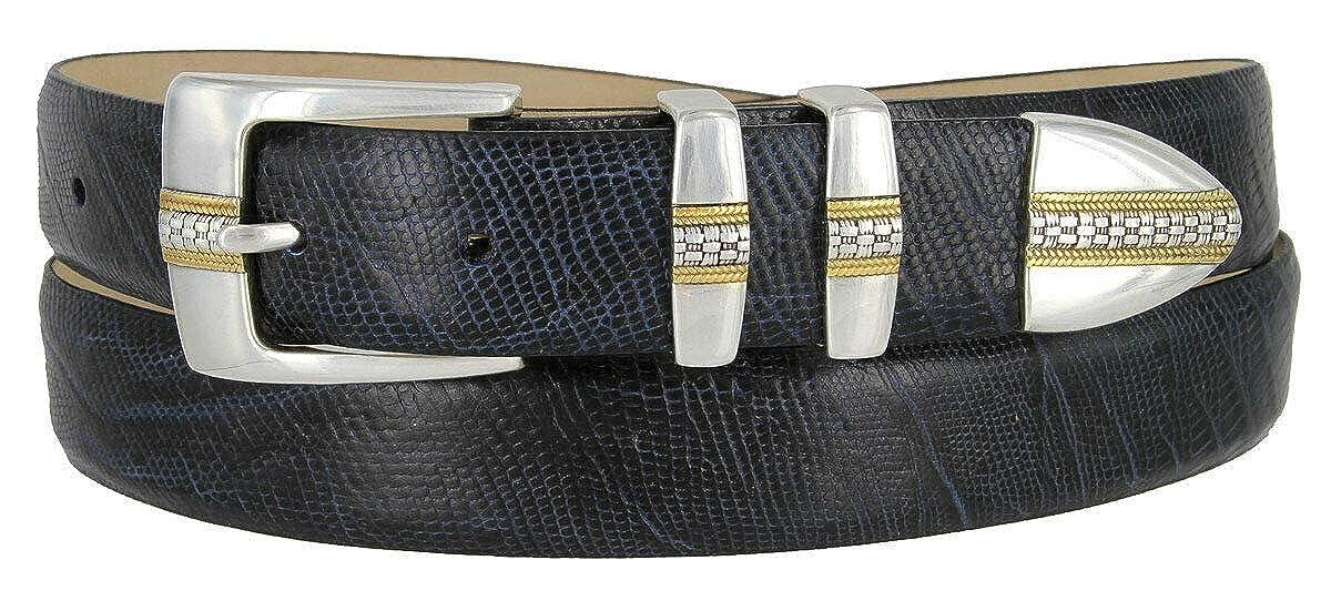 High Quality Gents Men's Metal Loop Milano Genuine Leather Buckle Belt Multi