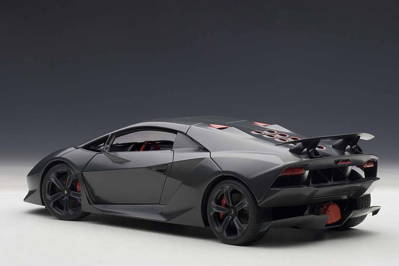 Amazon.com: AUTOart 1/18 Lamborghini Sesto Element (carbon Gray): Toys U0026  Games