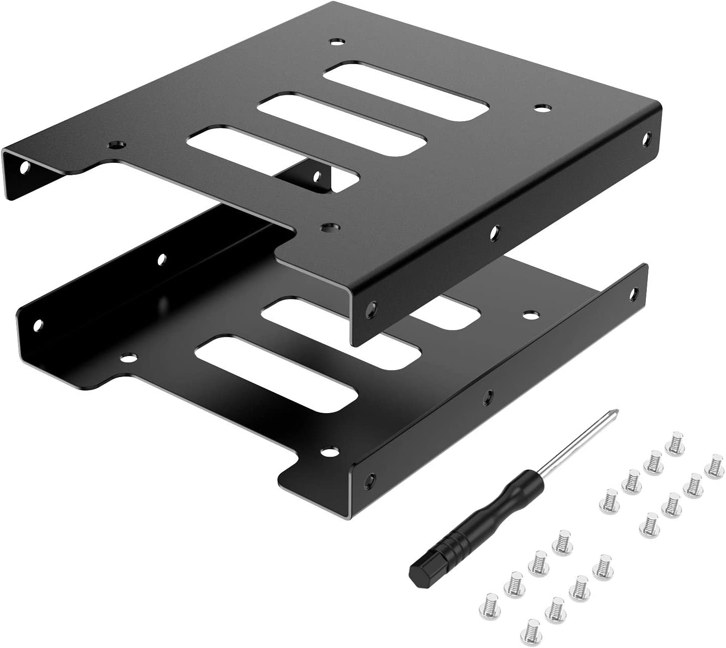 SSD Mounting Bracket,2.5 to 3.5 Adapter SSD HDD Metal Adapter Hard Drive Holder for PC(2 Pack)