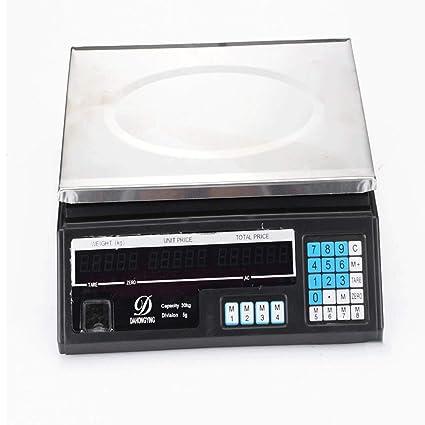 ZNND Electrónico Escamas, Comercial 30kg / 40kg Precisión Peso Cocina Mariscos Acuático Los Ingredientes (