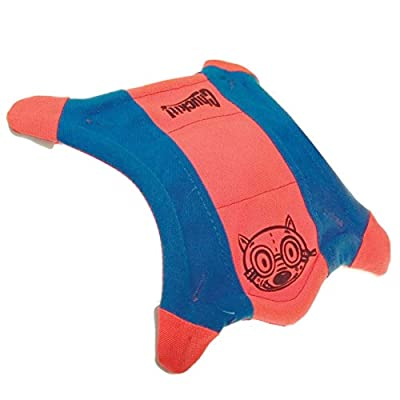 Chuckit! Flying Squirrel Spinning Dog Toy Orange/Blue 3