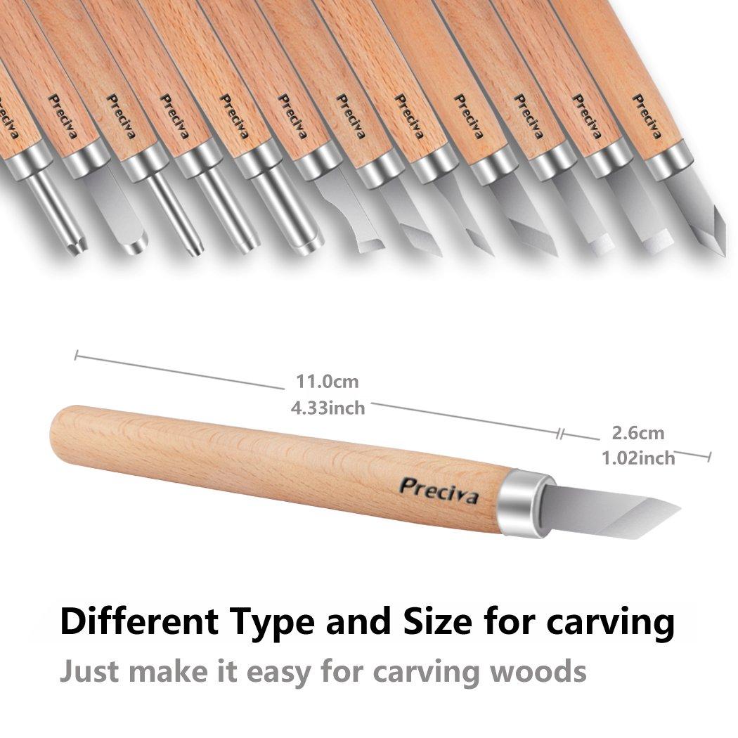 Amazon.com: preciva handmade wood engraving tools carving tools