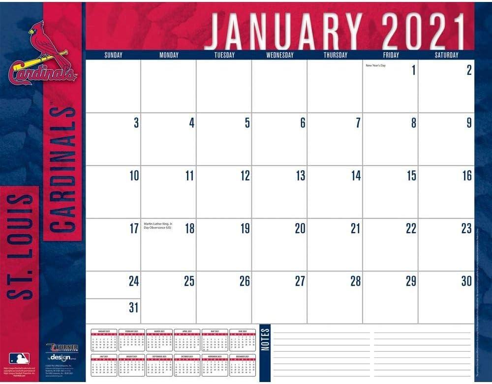 TURNER Sports St Louis Cardinals 2021 22X17 Desk Calendar (21998061518)