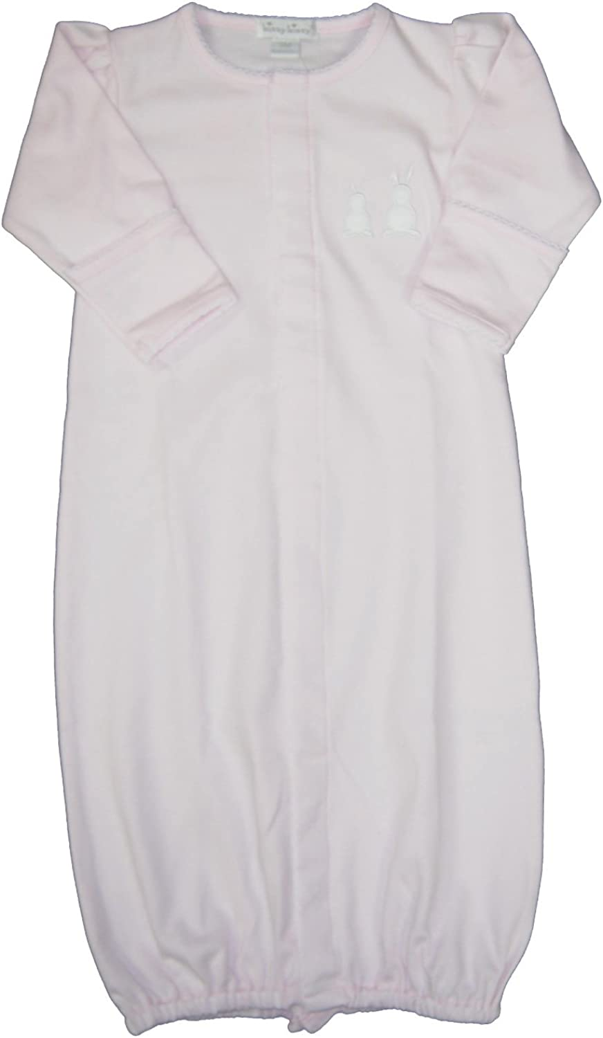 Kissy Kissy Unisex-Baby Infant Pique Bunny Ears Convertible Gown