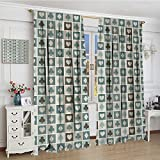 smallbeefly Casino Thermal Insulating Blackout Curtain Widened Card Suits Customized Curtains 120''x96'' HeartsSpadesDiamondsClubs Pattern Gaming Houses Addiction Print