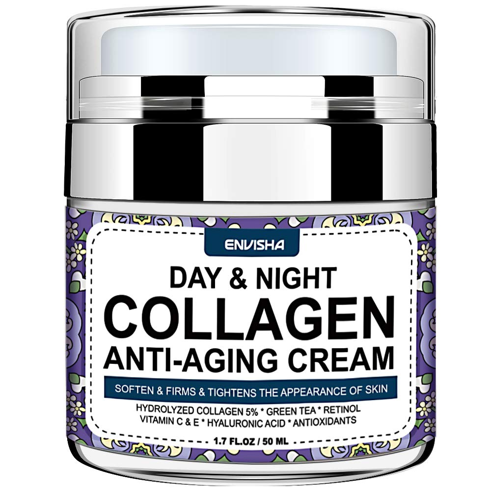 Wumal Day and Night Cream - Organic Collagen Cream for Women & Men - Anti Aging Face Moisturizer with Hyaluronic Acid & Vitamin C, Helps Cleanse, Moisturize, Rejuvenate, and Brighter Your Skin