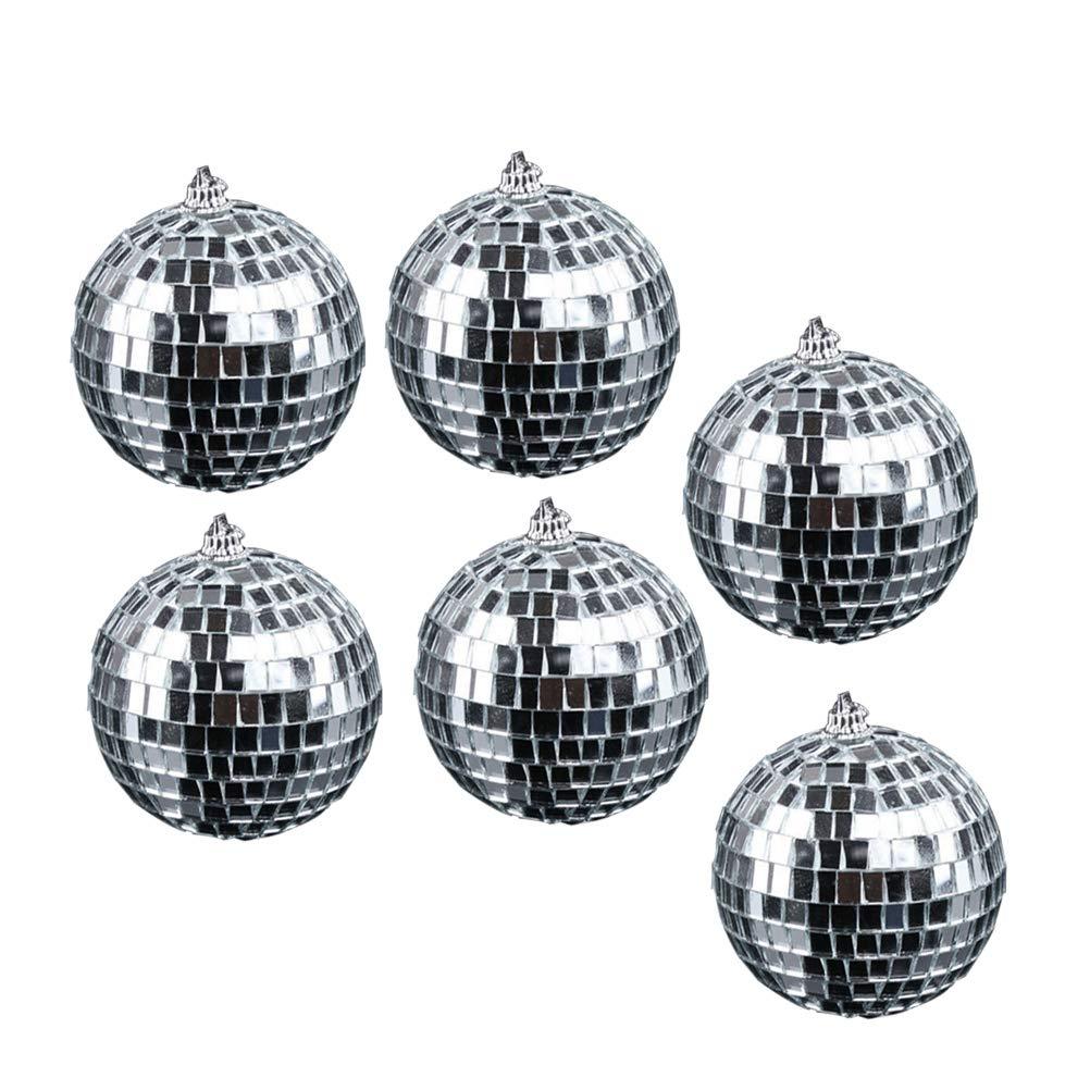 und Musikparty Amosfun 5cm Glasspiegelkugel Reflektierende Discokugel Weihnachtsschmuck zum Aufh/ängen f/ür Tanz