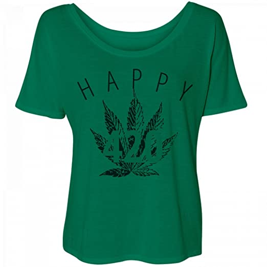 Customized Girl Vintage Ganja: Bella Women's Flowy Slouchy Tee