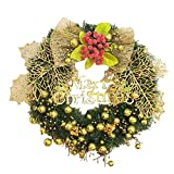 Garland Christmas Decor, Inkach Merry Christmas Wreath Ornament for Door Wall Hanging Garlands Decorations (Multicolor)