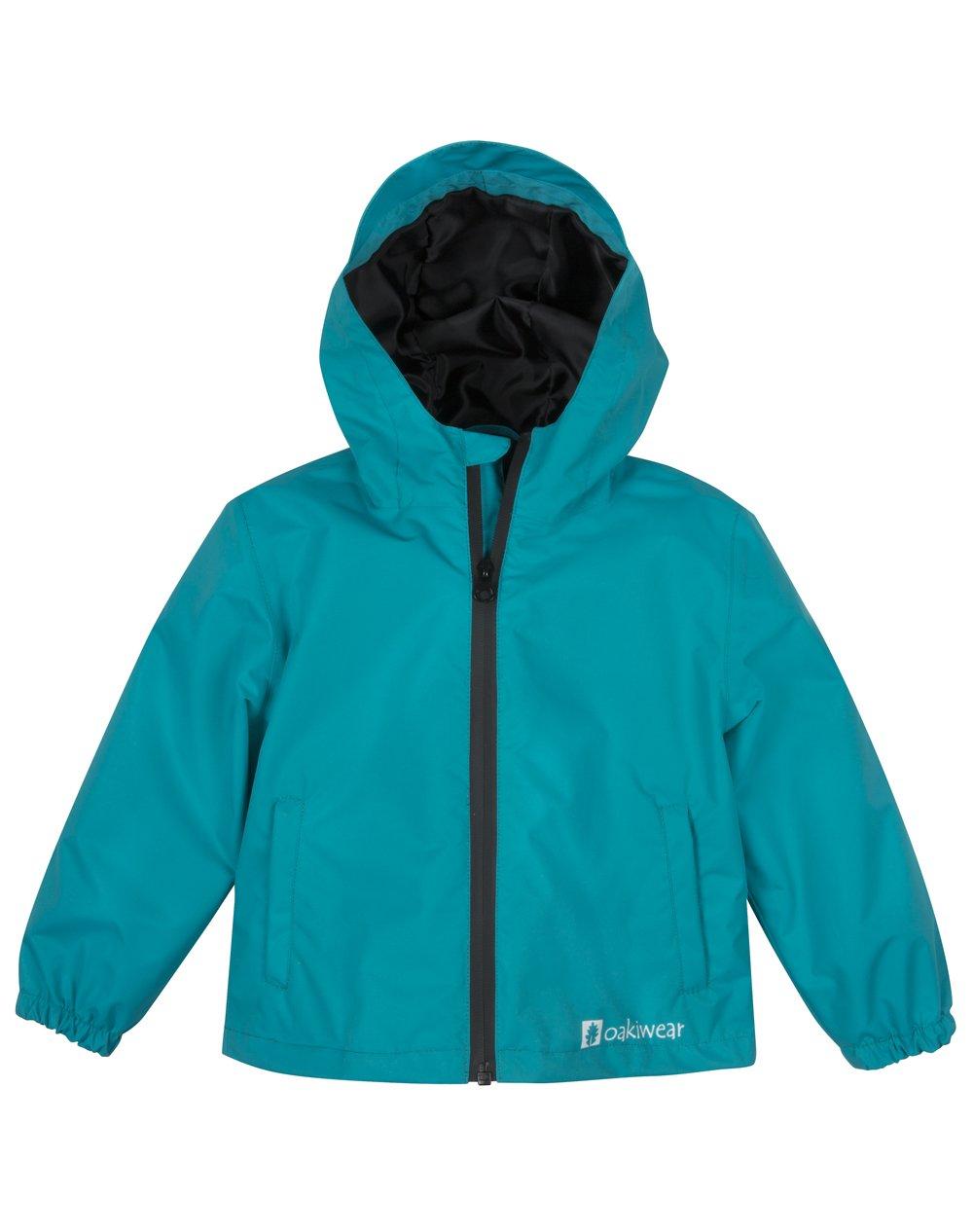 Lightweight with Hood Waterproof OAKI Rain Jacket for Kids//Toddlers Breathable