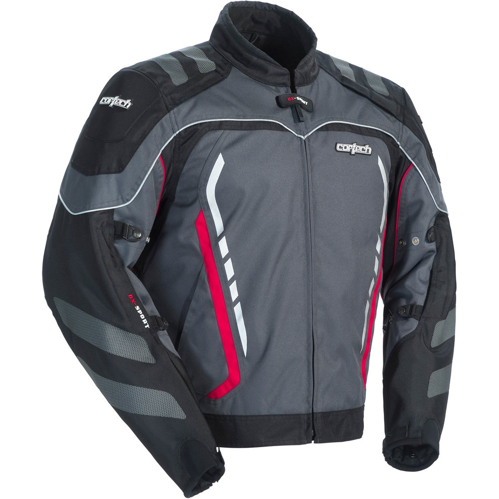 Cortech GX Sport 3 Men's Textile Armored Motorcycle Jacket (Gun Metal/Black, XX-Large)