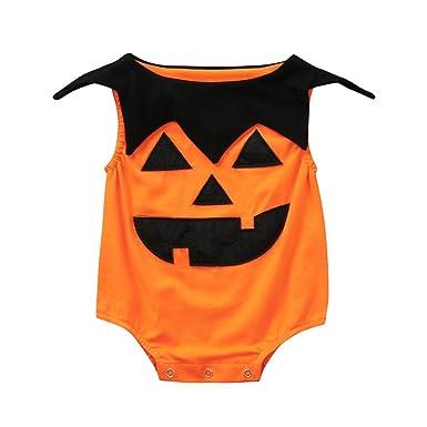 franterd baby halloween romper newborn toddler infant girls boys pumpkin jumpsuit costume outfits