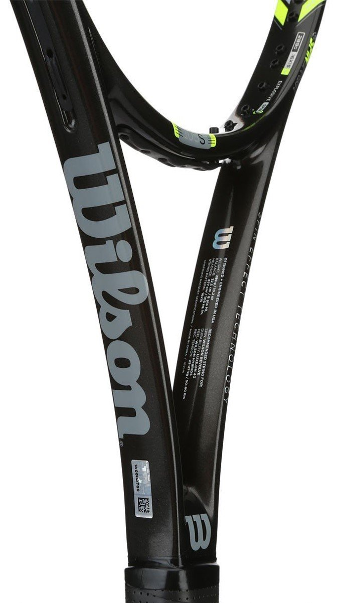 Amazon.com: Wilson WRT73090U1 Steam 105S Tennis Racket, Black/Yellow, Grip Size: 1: Health & Personal Care