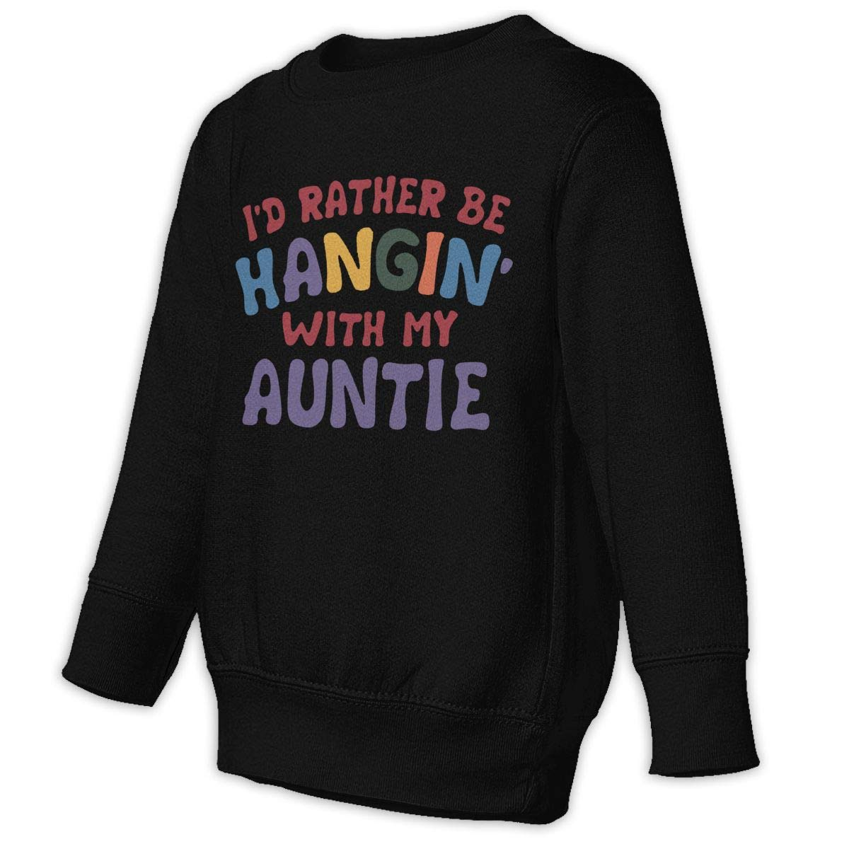 NMDJC CCQ Id Rather Be Hangin with My Aunt Baby Sweatshirt Fashion Juvenile Hoodies Cotton Pullovers