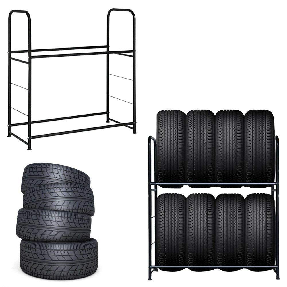 Costway Tyre Wheel Rack Car Truck Tire Storage Garage Wall Mounted Heavy Duty Steel Workshop 180KG