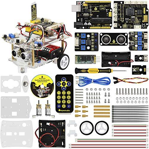 KEYESTUDIO Desktop Mini Robot Car V2.0 for Arduino, Electronic Coding Robotics for Kids Age 12+, Stem Education Kids Toys for Christmas (Hand Stem)
