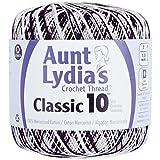 Coats Crochet Aunt Lydia's Crochet, Cotton Classic Size 10, Zebra