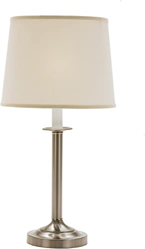 Fangio Lighting W-1062 1062 28 in. Brushed Steel Traditional Candlestick Styled Table Lamp