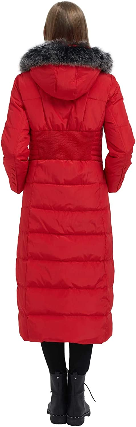 ilishop Womens Thickened Maxi Down Jackets Hooded Long Down Jacket Winter Parka Puffer Coat